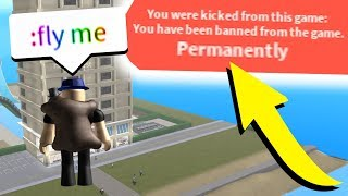 GETTING ADMIN AT A ROBLOX HOTEL *I GOT BANNED*