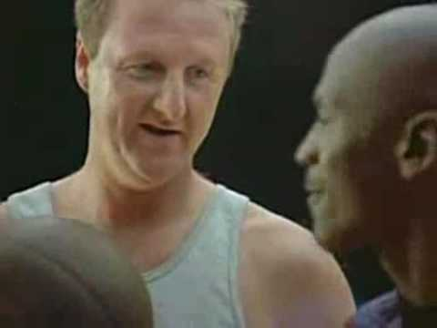 McDonalds Superbowl Commercial with Larry Bird and Michael Jordan