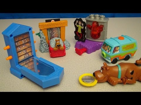 SCOOBY-DOO 2 MONSTERS UNLEASHED 2003 BURGER KING KID'S MEAL TOY COLLECTION VIDEO REVIEW