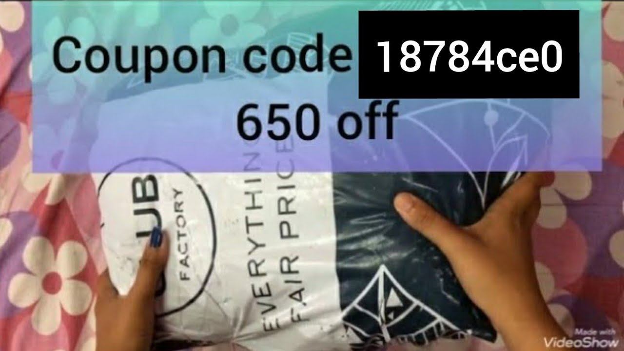 CLUB FACTORY unboxing and coupon code 3629816