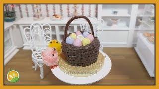 Làm bánh kem giỏ trứng phục sinh tí hon - Cream cake with Easter eggs