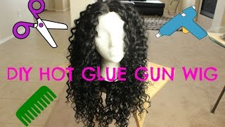 DIY Hot Glue Gun Wig For Under $20 | Outre Dominican Curly Bundles | SamsBeauty.com
