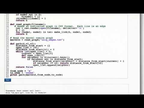 BFS Code - Intro to Algorithms - YouTube