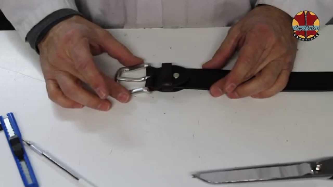 comment r gler une ceinture cuir porte billets youtube. Black Bedroom Furniture Sets. Home Design Ideas