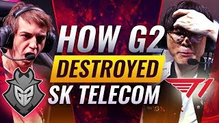 How G2 DESTROYED SKT During The Semi-Finals - League of Legends World Championships Season 9