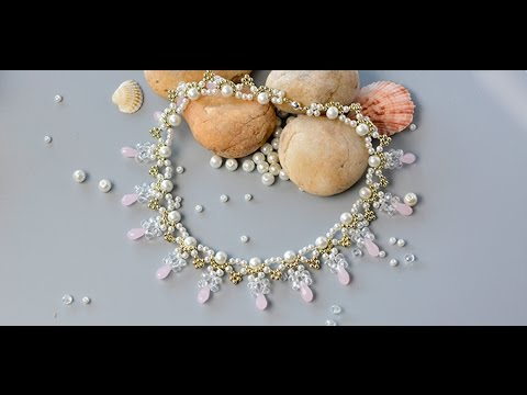 PandaHall Video Tutorial on How to Make Delicate Beading Choker Necklace for wedding