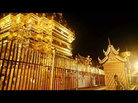 Golden Mountain Temple - Chiang Mai Thailand