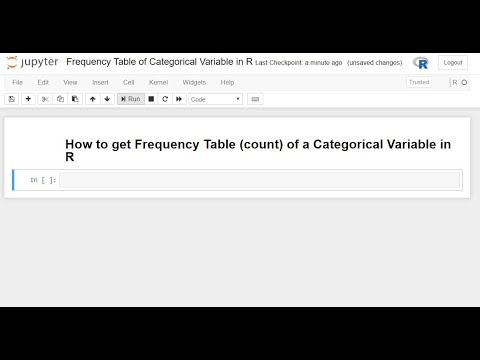 How to get Frequency Table (count) of a Categorical Variable in R