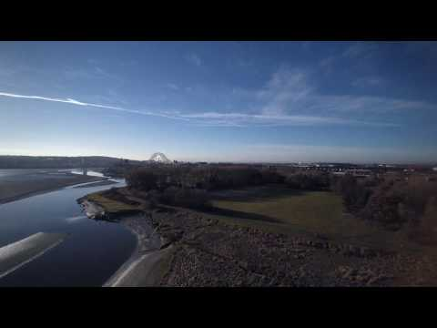 Mersey Estuary from the air on a cold winter morning