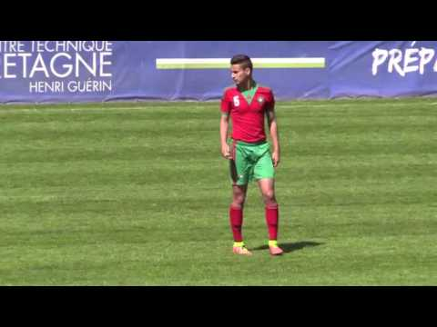 HAMZA REGRAGUI MOROCCO NUMBER 6 - GABON YOUTH INTERNATIONAL TEAM - 2015