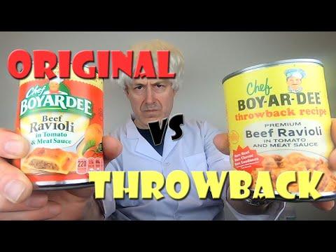 Chef Boyardee Throwback Premium Beef Ravioli versus Original Chef Boyardee Beef Ravioli