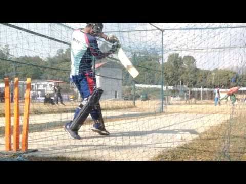 NEPALI NATIONAL PLAYER ANIL MANDAL | TRAINING AT NETS | FULL HD