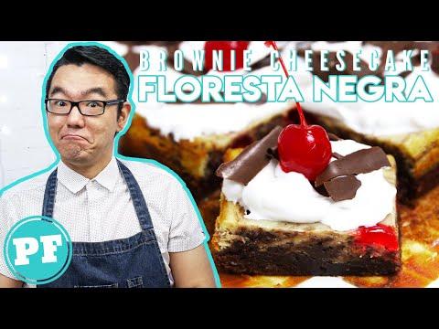 Brownie Cheesecake Floresta Negra (Nutella e Cereja) | PratoFundo