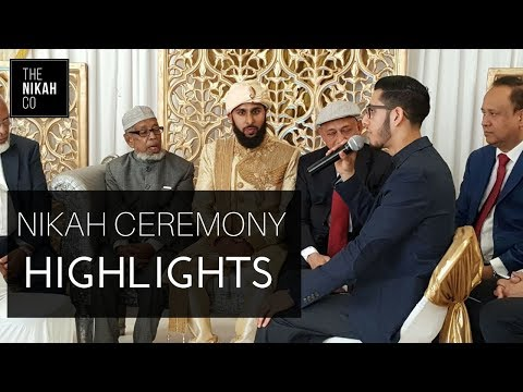 NIKAH CEREMONY HIGHLIGHTS | Conducting a Beautiful Islamic Marriage