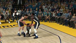 NBA 2K18 Stephen Curry Nasty Injury!!!