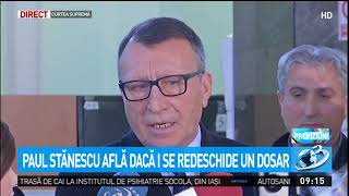 Vicepremierul Paul Stănescu află dacă i se redeschide un dosar