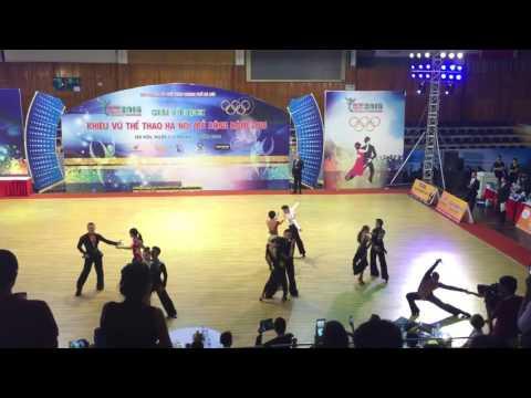 Hoang Đức Tuấn - Đặng Thu Hương, 5latin - Hanoi open 2016