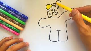 pudsey bear drawing lesson