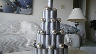 DIY Contemporary, Modern Christmas Decoration Idea