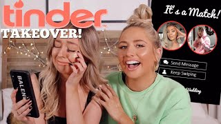 taking over my BESTFRIENDS TINDER!! * I found her a boyfriend *
