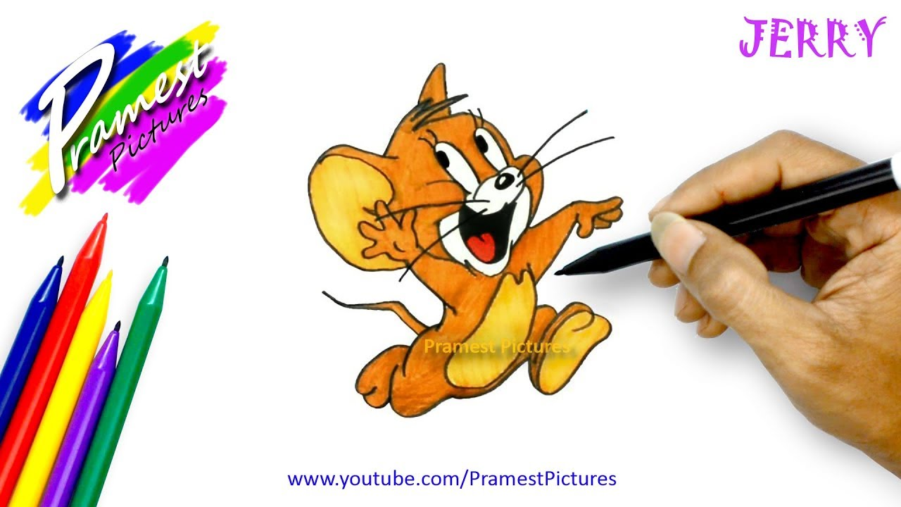 How To Draw Jerry Cartoon Coloring Pages For Kids