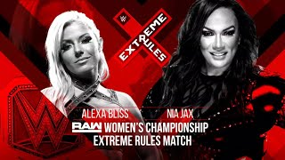 Raw Women's Champion Alexa Bliss battles Nia Jax in an Extreme Rules Match this Sunday