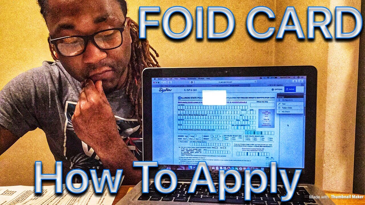 picture relating to Printable Foid Card Application called Place Of Illinois Foid Card Software program