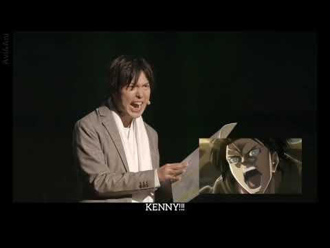 [ENG SUB] Hiroshi Kamiya Voice Acts And Narrates Levi On Live Stage - AOT Seiyuu Live