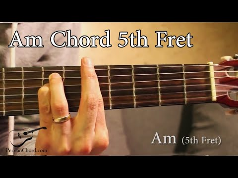 Am Chord on Guitar (5th Fret) - YouTube