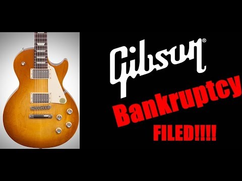 Gibson FILES for BANKRUPTCY!  And the CEO is...