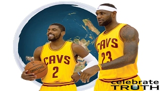 FLAT EARTH HITS THE NBA! LeBron James Is Okay with Kyrie Irving's Flat Earth Position!