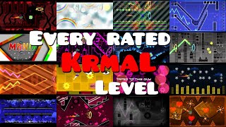 Every rated KrmaL level - Geometry Dash