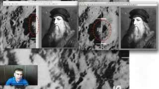 Leonardo da Vinci Face Found On Moon, Sept 2014, UFO Sighting News.