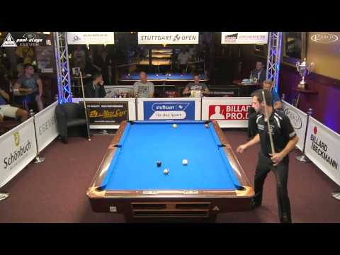 Stuttgart Open 2015, No. 23, 1/8 Final, Sebastian Staab vs. Ricardo Gutjahr, 10-Ball, Pool-Billard