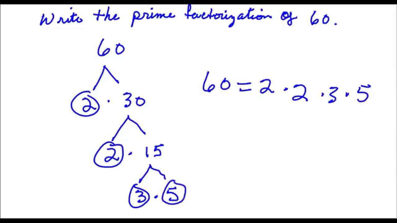 worksheet Prime Factors Of 50 write the prime factorization of 60 youtube 60