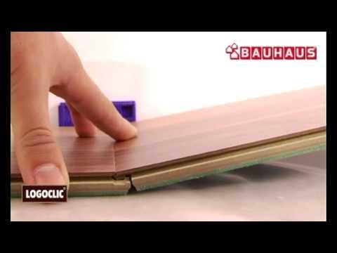 Beginn Mit Der Verlegung Von Laminat   Erste Reihe   LOGOCLIC Laminat  Verlegen 3/7   YouTube