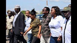 Raila's lieutenants 'resist' police at JKIA on eve of his return
