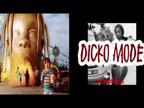Sicko mode but drakes part is Dicko mode.