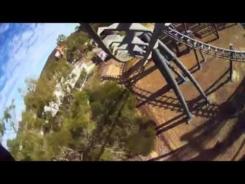 Arkham Asylum 4K POV - Warner Bros. Movie World, Australia - Roller-Coaster Point of View