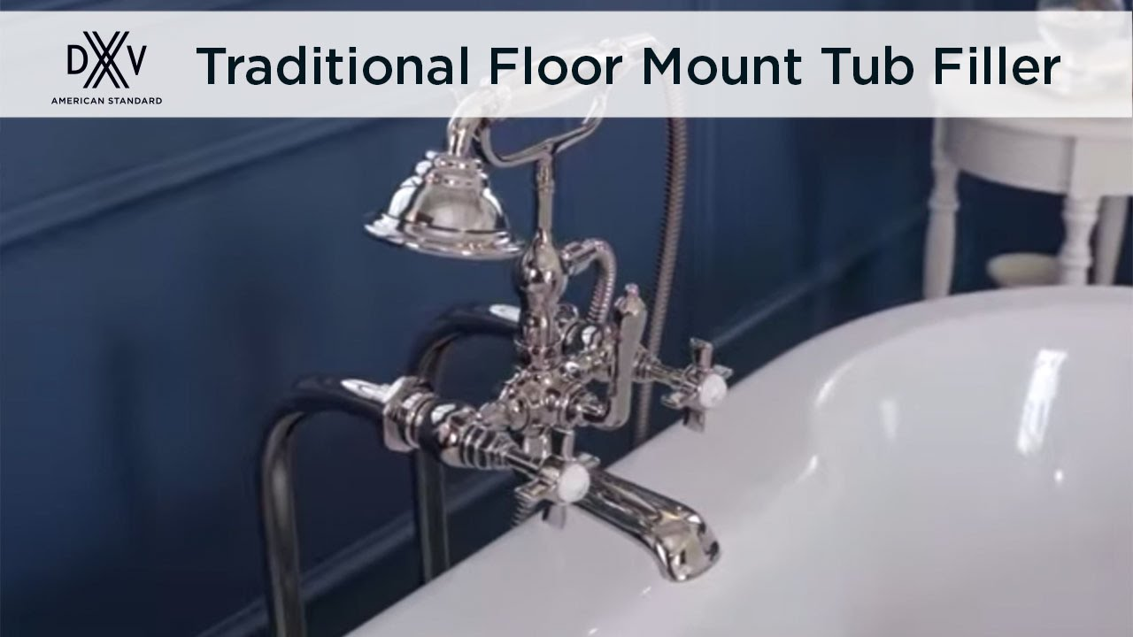 Traditional Floor Mount Tub Filler by DXV - YouTube