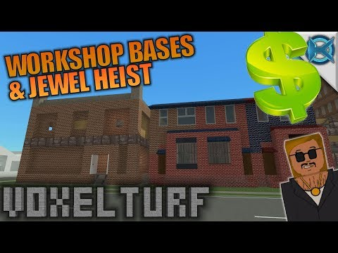 WORKSHOP BASES & JEWEL HEIST | Voxel Turf | Let's Play Gameplay | S01E10