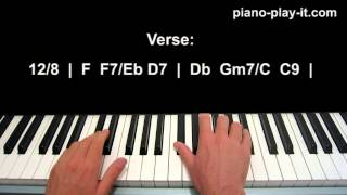 At Last Piano Tutorial Etta James