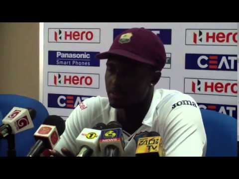 Angelo Mathews, Milinda Siriwardana & Jason Holder at Post Match Press Conference - 2nd Test