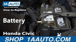 How to Replace Battery 01-05 Honda Civic