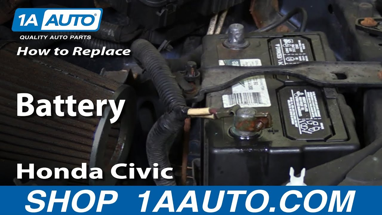 How To Replace Battery 01 05 Honda Civic