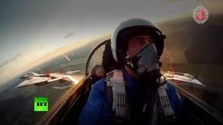Минобороны России опубликовало уникальные кадры воздушной съемки истребителя Т 50