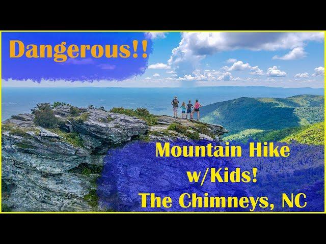 Dangerous Mountain Hike with Kids! | The Chimneys | North Carolina | GoPro Hero8 | DJI Drone