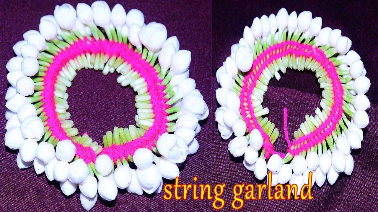 How To Make String Garland Nanthiya Vattai Flowers