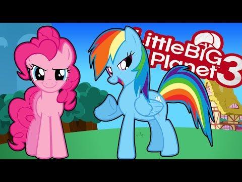 LIttleBigPlanet 3 | Rainbow Dash vs Pinkie Pie