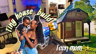Teen Lives In Tiny House With A One Year Old Son! ||shed To Tiny Home Build